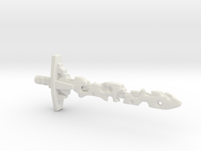 Corrupt Laser Sword (5mm and 3mm grips) in White Strong & Flexible: Medium