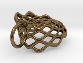 Mobius Mesh (smaller) Pendant in Precious Metals in Polished Bronze