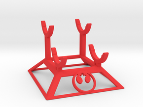 Rebel Double Saber Stand in Red Strong & Flexible Polished