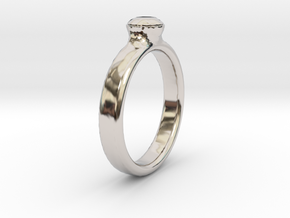 Diamond Solitaire Engagement Ring - Gold & Silver in Platinum