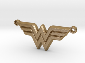 Wonder Woman (Pendant) in Polished Gold Steel