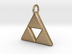 The Legend of Zelda - Triforce (Pendant) in Polished Gold Steel