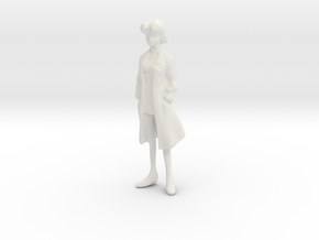 1/24 Woman Scientist in Lab Suit in White Natural Versatile Plastic