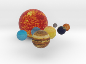 Our Solar System Planets in Full Color Sandstone