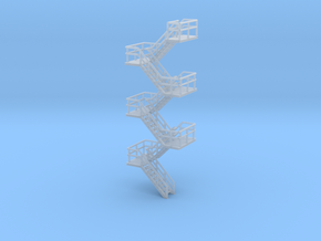 N Scale Staircase H68.8mm in Frosted Ultra Detail