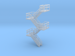 N Scale Staircase H46.4mm in Smooth Fine Detail Plastic