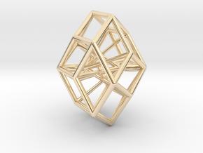 Rhombic Icosahedron Pendant in 14K Yellow Gold