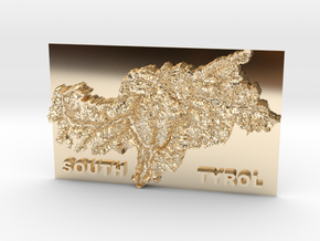 MyTinyCountries SOUTH TYROL in 14k Gold Plated Brass