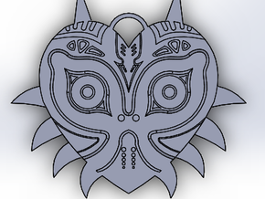 Majora's Mask Pendant (Single Side) in White Natural Versatile Plastic