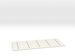 Parking Space Template (HO) in White Strong & Flexible: 1:87 - HO