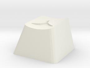 Overwatch Athena Cherry MX Key in White Natural Versatile Plastic