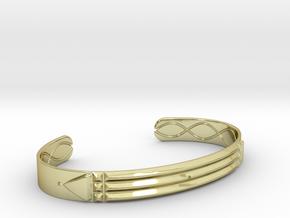 Atlantis Cuff Bracelet in 18k Gold Plated Brass: Medium