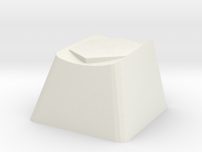 League of Legends Winters Claw Cherry MX Keycap in White Natural Versatile Plastic