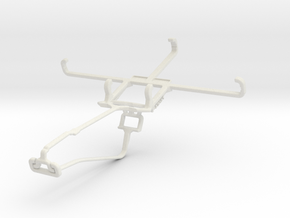 Controller mount for Xbox One Chat & BlackBerry Ke in White Natural Versatile Plastic