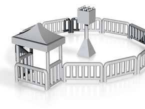 miniature racers fence and halo in White Natural Versatile Plastic