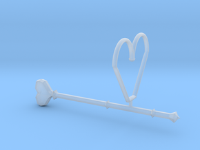Heart Wand Keychain/necklace Attachment in Smooth Fine Detail Plastic