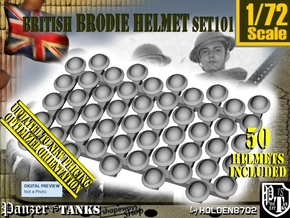 1/72 Brodie Helmet Set101 in Smooth Fine Detail Plastic