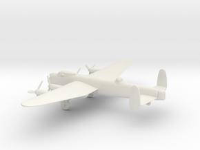 Avro Lancaster B.III in White Natural Versatile Plastic: 1:160 - N