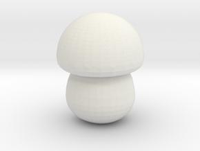 Teemo Mushroom in White Natural Versatile Plastic