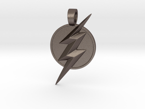 Flash pendant in Polished Bronzed Silver Steel