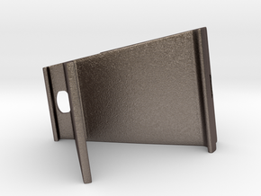 Tablet Holder in Polished Bronzed Silver Steel: Extra Large