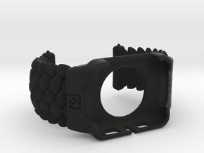 Apple Watch cuff 42mm scales  medium size in Black Natural Versatile Plastic