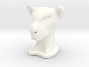 Lioness SMALL in White Processed Versatile Plastic