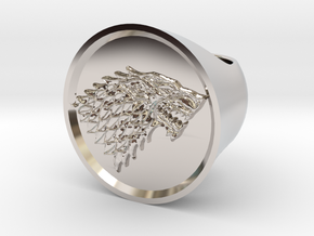 Ring House of Stark - Game Of Thrones in Rhodium Plated Brass
