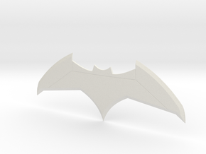 Justice League Batarang in White Natural Versatile Plastic