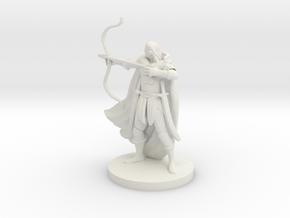 Elven Male Ranger in White Natural Versatile Plastic