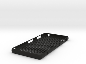 Sony Xperia Z3 case - honeycomb pattern in Black Natural Versatile Plastic