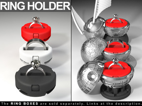 "RING HOLDER (REGULAR) - To (*)""ALL NEW RING BOXES"" in Red Strong & Flexible Polished"