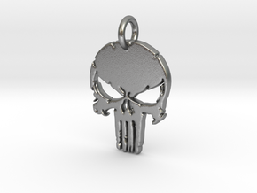 Punisher logo Pendant in Natural Silver