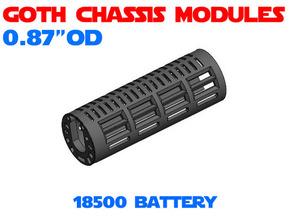 GCM087 - 18500 Battery chassis in White Natural Versatile Plastic