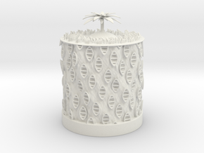 Ocean Bloom zoetrope in White Natural Versatile Plastic