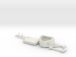 1:10 scale BENCH TOP SAND BLASTER in White Natural Versatile Plastic
