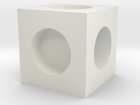 MPConnector - Connector Block 1 in White Natural Versatile Plastic
