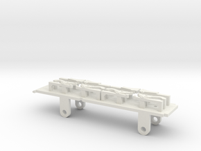 Furness D1, E1 & Cambrian SPC Tender - EM Chassis in White Natural Versatile Plastic