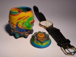 Colorful Jewelry Box in Glossy Full Color Sandstone: Small