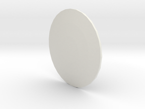 Round Light Cover in White Natural Versatile Plastic