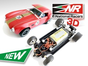 3D Chassis MRRC Shelby Cobra MO-35 - Inline in Black Natural Versatile Plastic