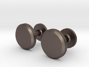 Milnerfield Hawking Cufflinks - Pair in Polished Bronzed Silver Steel