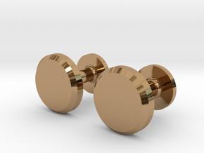 Milnerfield Hawking Cufflinks - Pair in Polished Brass