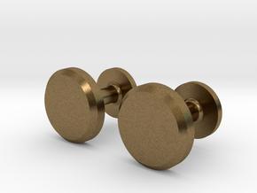 Milnerfield Hawking Cufflinks - Pair in Natural Bronze