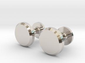 Milnerfield Hawking Cufflinks - Pair in Rhodium Plated Brass