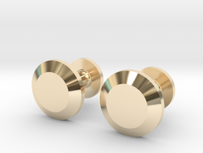 Milnerfield Faraday Cufflinks - Pair in 14K Yellow Gold