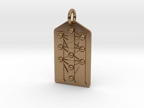 Three Pillars Tree of Life Medallion in Natural Brass