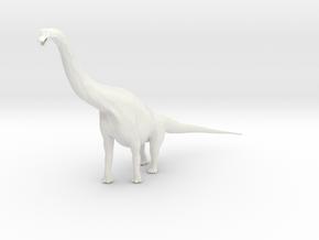 Brachiosaurus in White Natural Versatile Plastic: 1:144