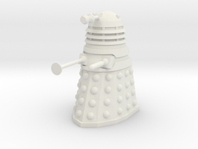 Dalek Mk I - Neutral Pose in White Natural Versatile Plastic