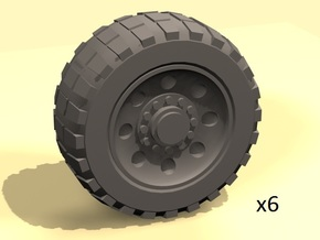 25mm diameter wheels for vehicle models x6 in White Processed Versatile Plastic